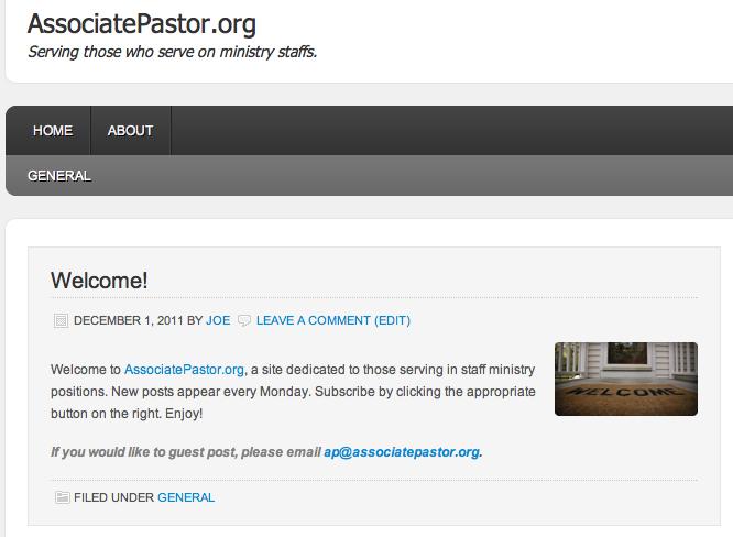 AssociatePastor.org
